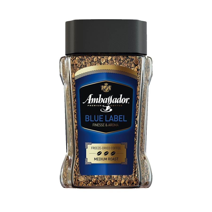 Instant sublimated coffee AMBASSADOR BLUE LABEL