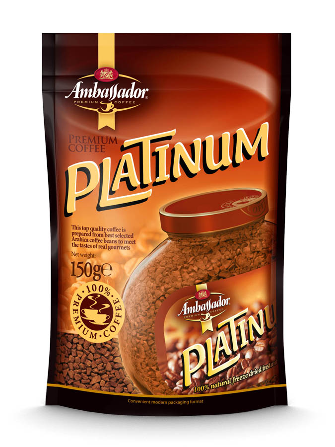 Instant sublimated coffee AMBASSADOR PLATINUM