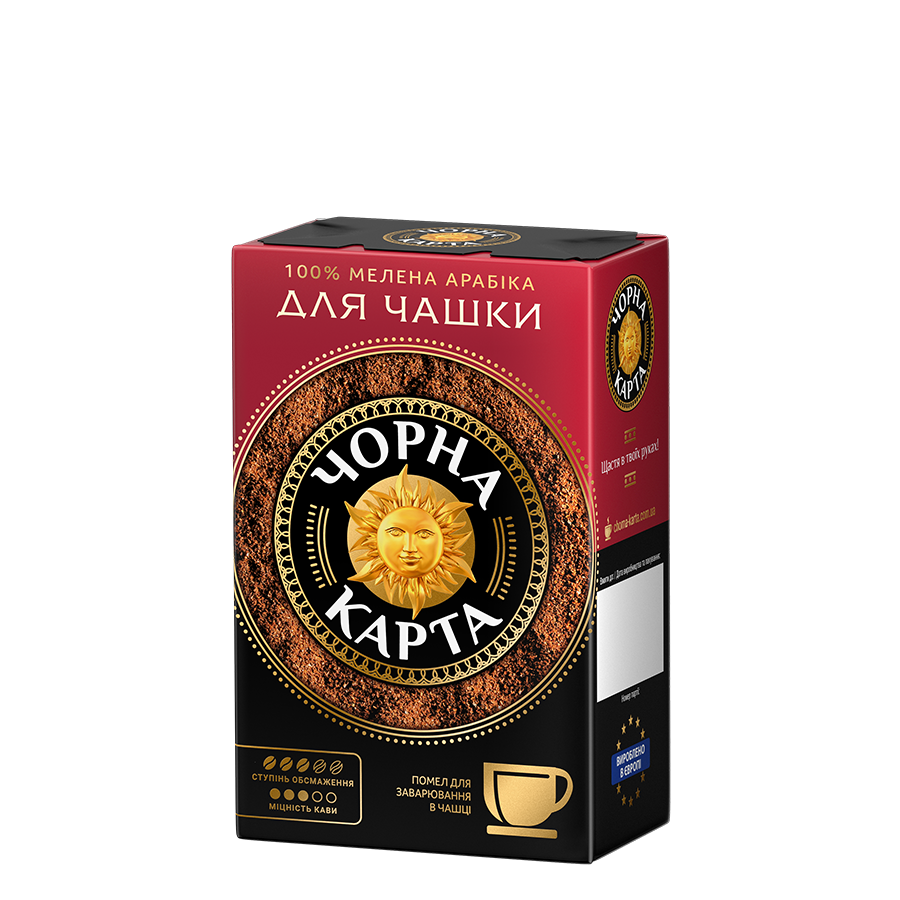 Ground coffee for brewing a cup «CHORNA KARTA»
