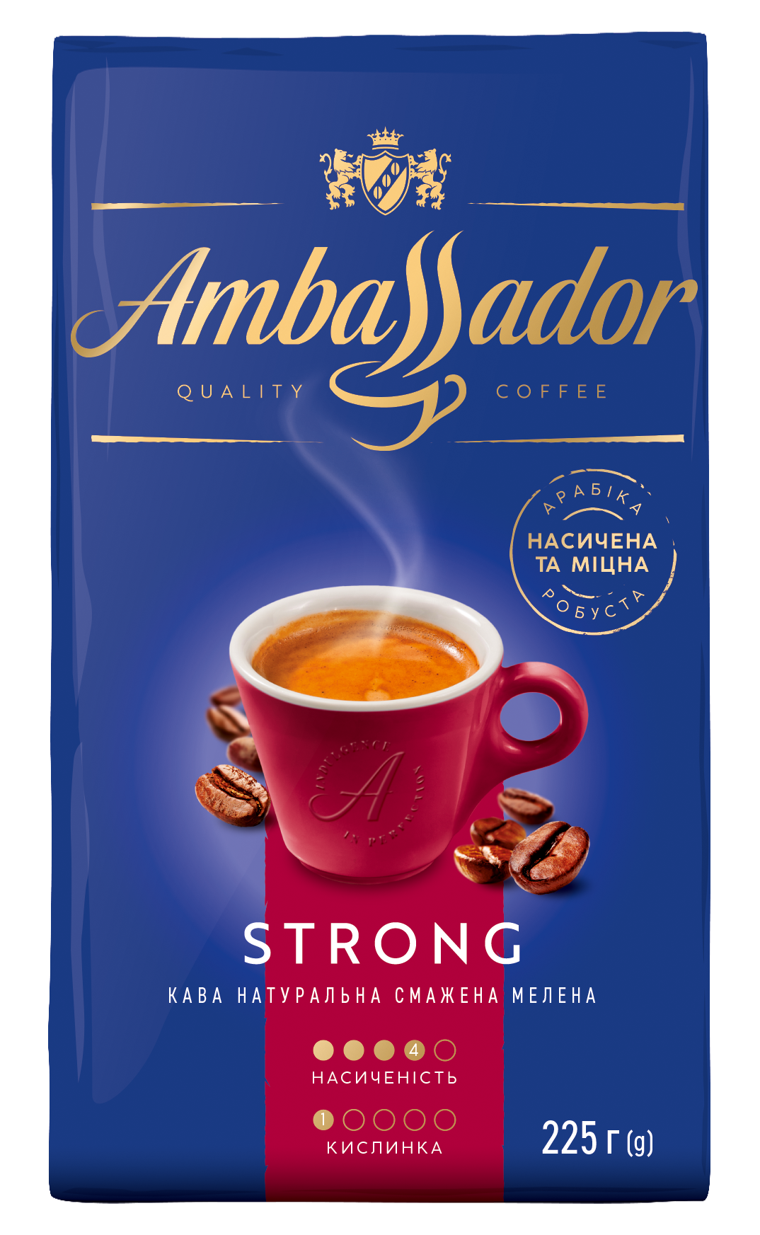Ambassador Strong 225g ground